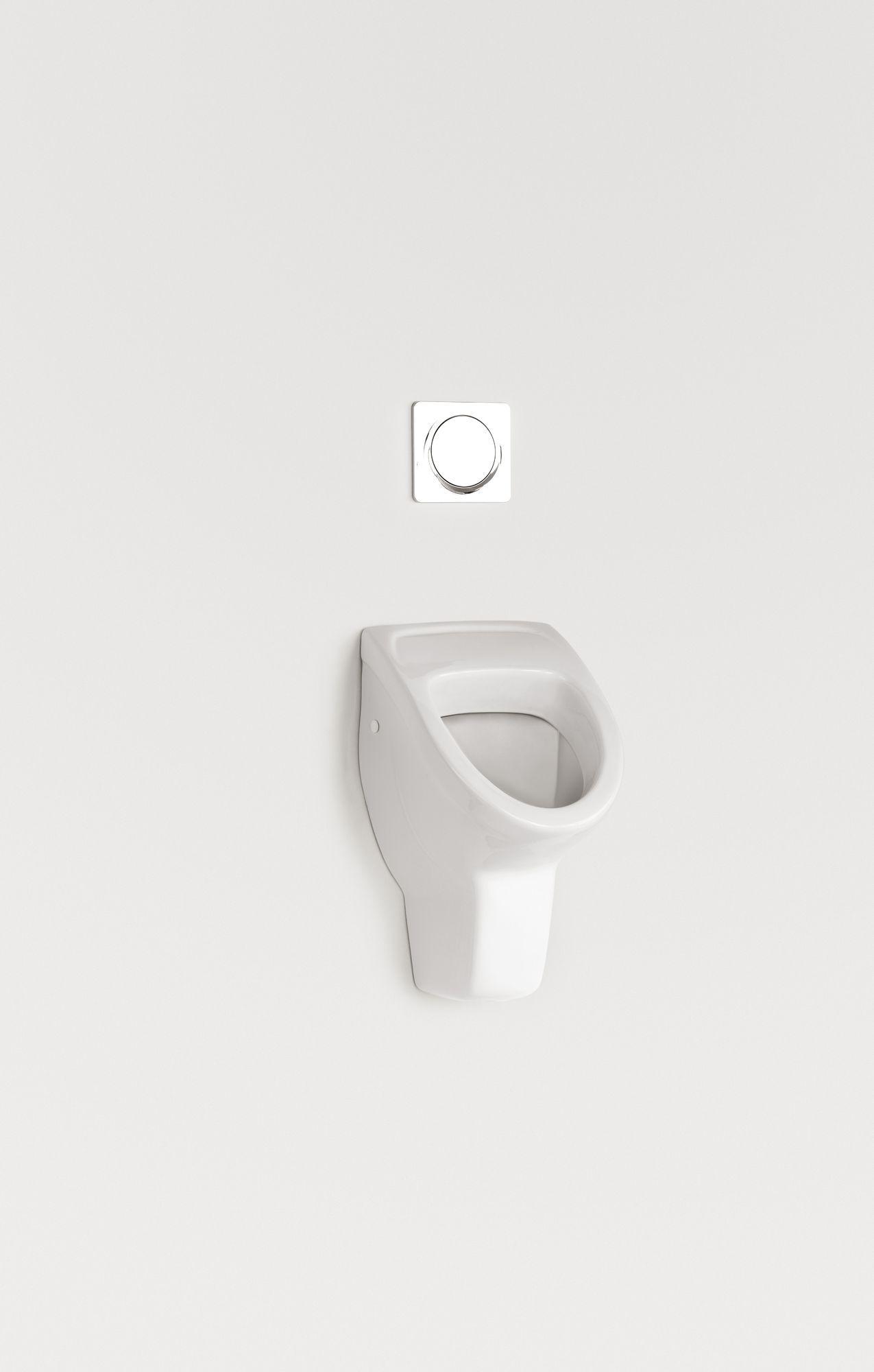 Villeroy & Boch O.novo Urinal ohne Deckel mit Zielobjekt Zulauf verdeckt weiß mit ceramicplus 752705R1