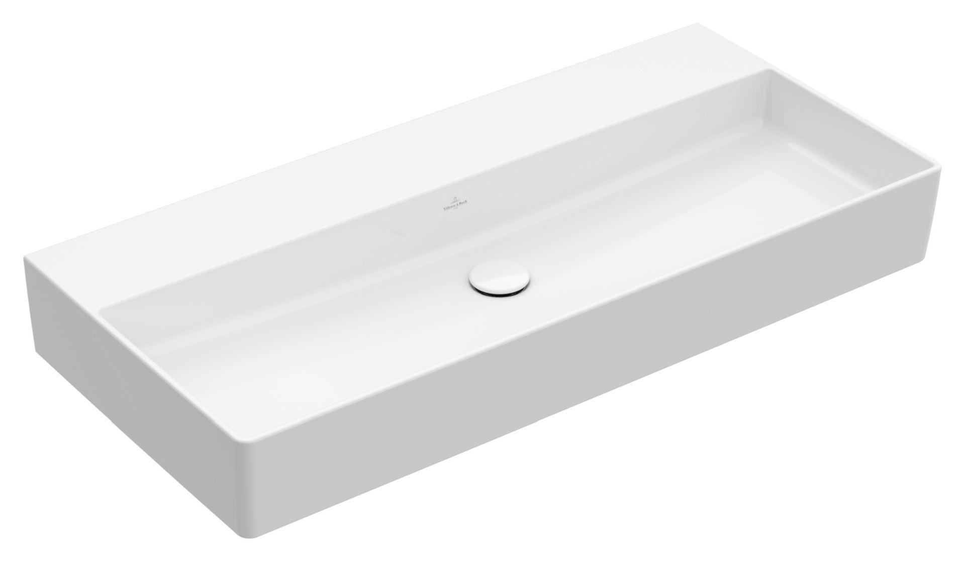 Villeroy & Boch Memento 2.0 Wandwaschtisch B: 100cm ohne Überlauf Weiß Alpin 4A221F01