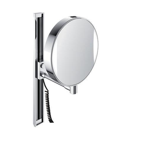 Emco LED-Rasier- & Kosmetikspiegel mit Gleitschiene Vergrößerung 3- & 7-fach mit Stecker chrom mit Farbwechsel 109506012