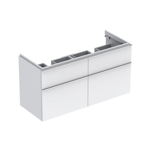 Geberit Keramag iCon Waschtischunterschrank mit 2 Auszügen und 2 Schubladen B:1190xT:477xH:620mm alpin matt 841520000