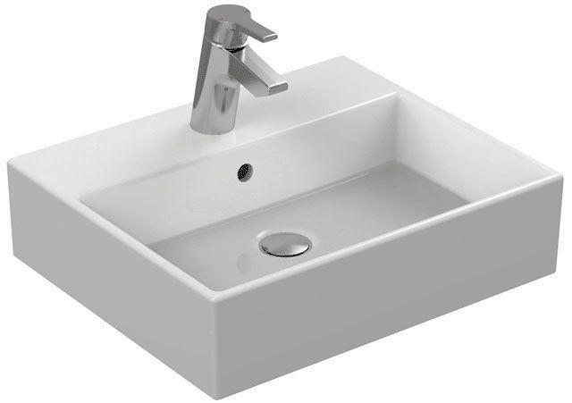 Ideal Standard Strada Waschtisch B:50xT:42cm 1 Hahnloch mittig mit Überlauf weiß K077701