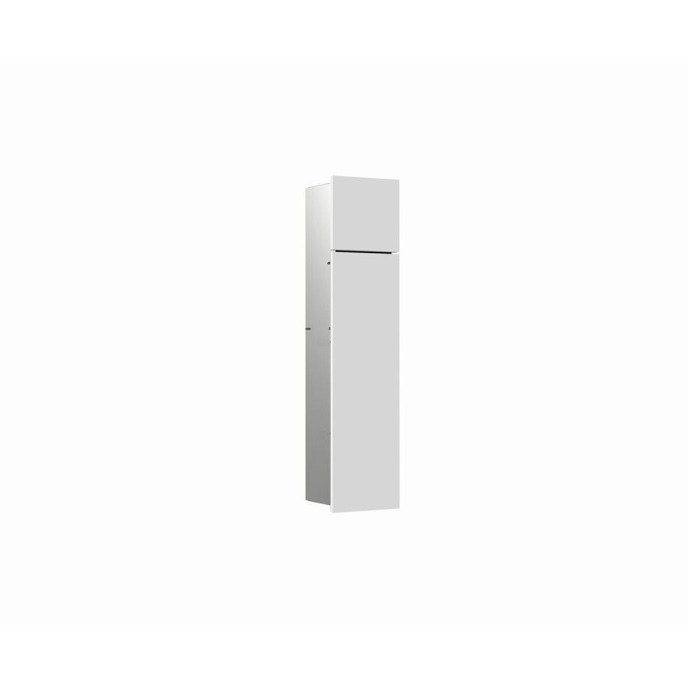 Emco Asis Pure WC-Modul H:73xB17xT:14,85cm Unterputz Anschlag rechts mit Ersatzrollenfach weiß matt 975551301