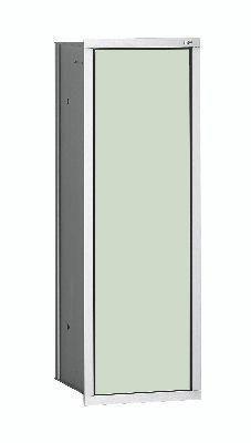 Emco asis Bürstengarnitur Unterputz-Modul 973027431 aluminium, weiß