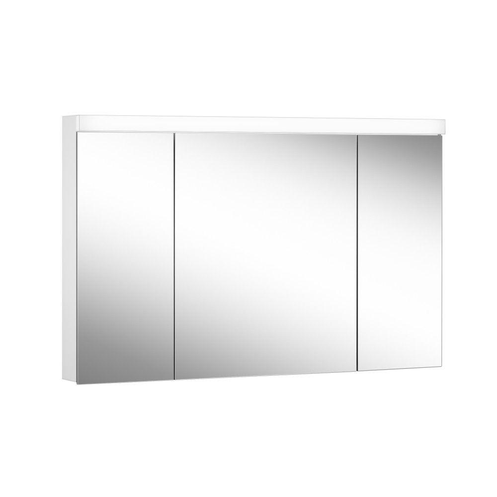Schneider Spiegelschrank LOWLINE Plus 120/3/LED B:120xH:74,8xT:12cm mit Beleuchtung weiß 172.121.02.0201