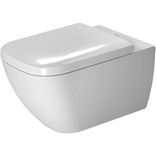 Duravit Happy D.2 Tiefspül-Wand-WC rimless ohne Spülrand L:54xB:36,5cm weiß mit Wondergliss 22220900001