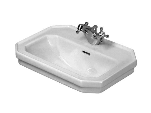 Duravit 1930 Handwaschbecken B:50xT:36,5cm 1 Hahnloch mittig mit Überlauf weiß mit Wondergliss 07855000001
