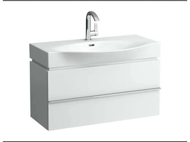Laufen Case for Palace Waschtischunterschrank B:89,5cm T:37,5cm H:46cm 2 Schubladen eiche anthrazit H4012520755481