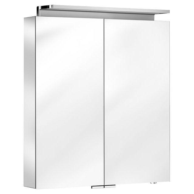 Keuco Royal L1 Spiegelschrank mit 2 Türen B:80xH:74,2 cm silber gebeizt eloxiert 13603171301