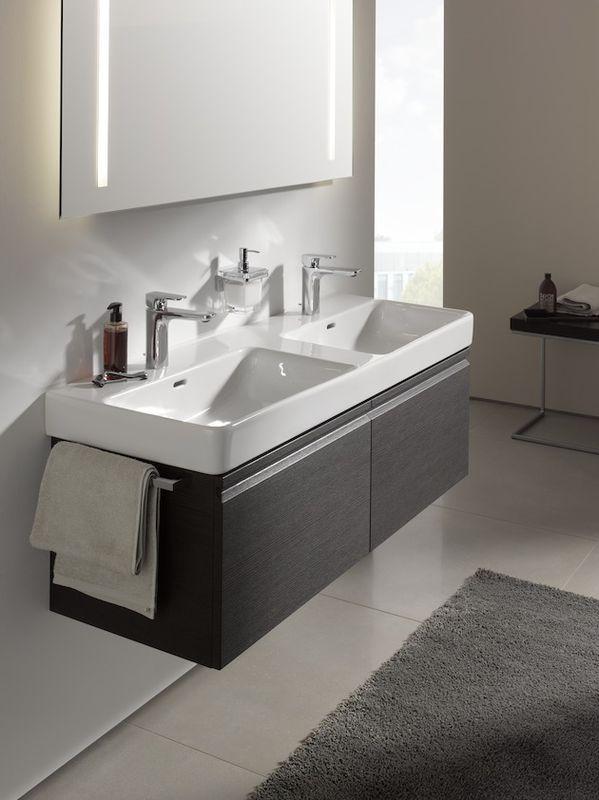 Laufen Pro S Waschtischunterbau 2 Schubladen  B:126xH:39xT:45cm weiß matt H4835710964631