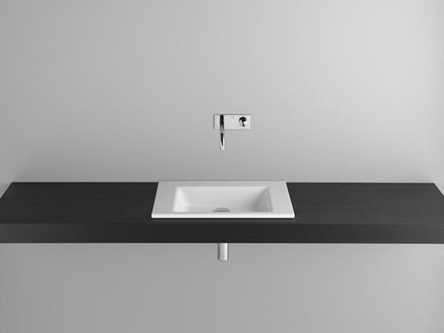 Bette Aqua Einbauwaschtisch B:60xT:49,5xH:1cm ohne Hahnloch ohne Überlauf weiß A050-000