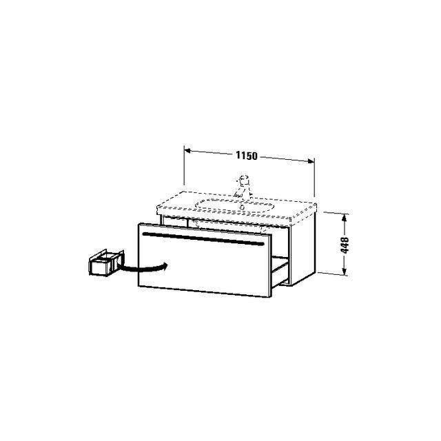 Duravit X-Large Waschtischunterschrank wandhängend B:115xH:44,8xT:45,8 cm mit 1 Auszug graphit matt XL605004949
