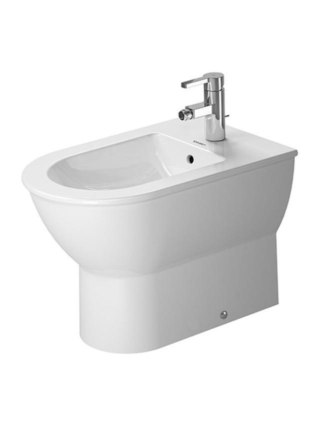 Duravit Darling New Stand-Bidet L:57cm für 1-Loch-Armatur mit Überlauf weiß mit Wondergliss 22501000001