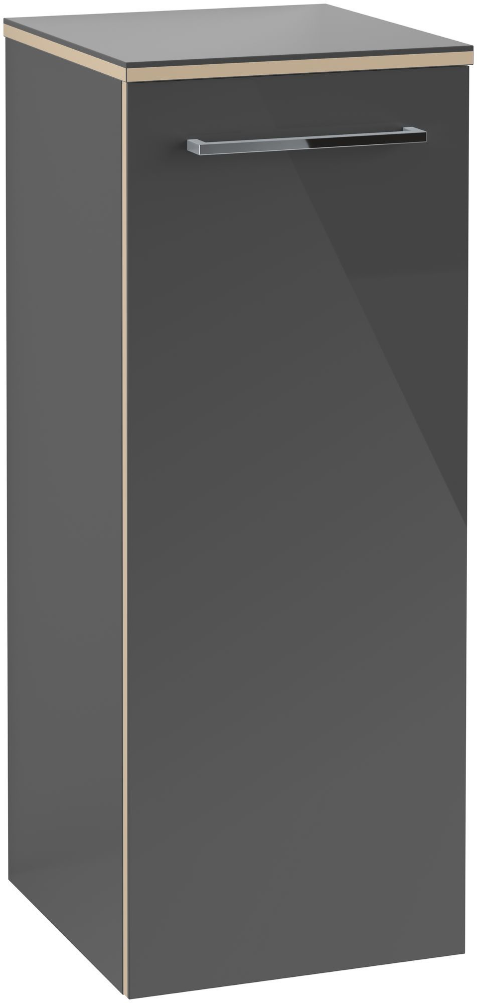 Villeroy & Boch Avento Seitenschrank Türanschlag links B:35 x H:89,2 x T:37 cm crystal grey A89500B1