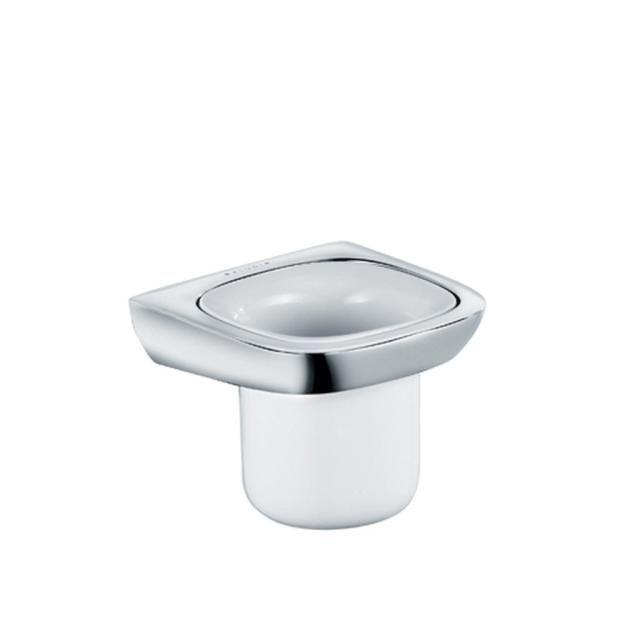 KLUDI AMBA Glashalter mit Porzellanbecher chrom 5397505