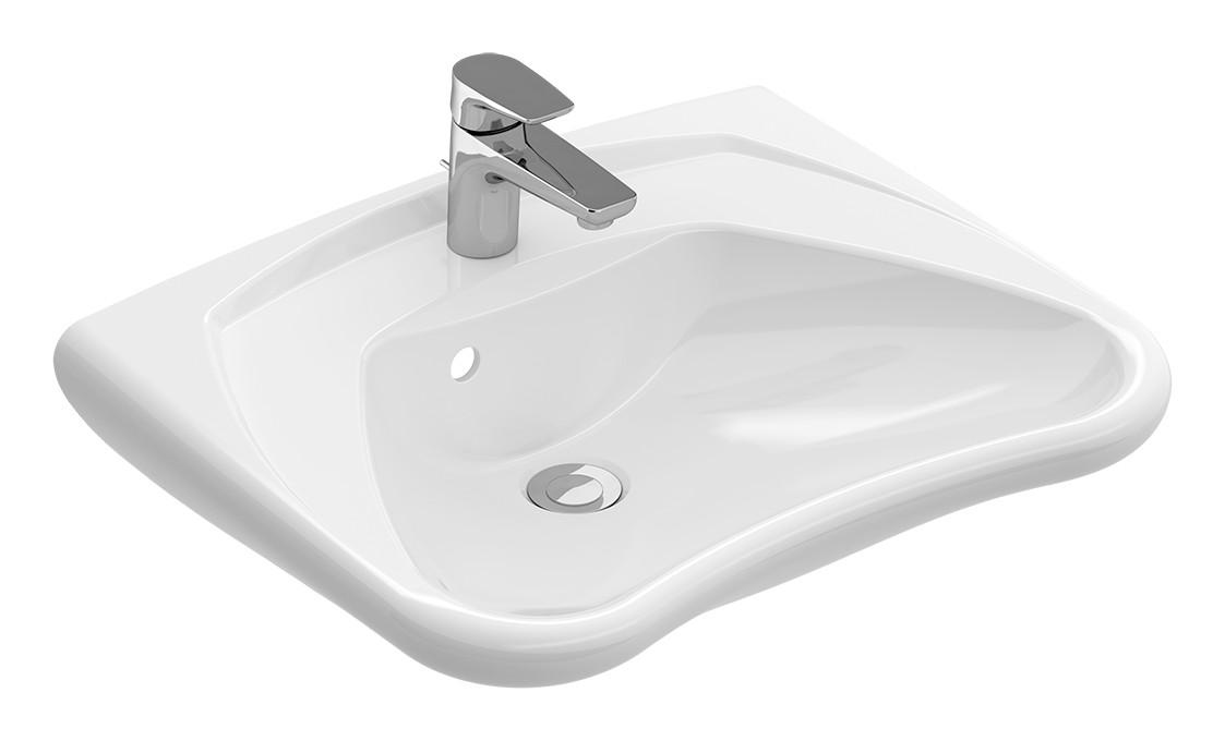 Villeroy & Boch O.novo Vita Waschtisch B:60xT:49cm 1 Hahnloch ohne Überlauf unterfahrbar weiß mit Ceramicplus 711961R1
