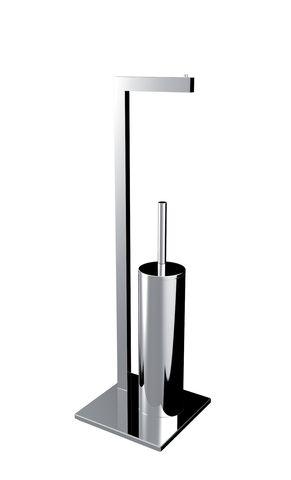 Emco loft WC-Butler Standmodell mit Bürstengarnitur u. Papierhalter chrom 058000101
