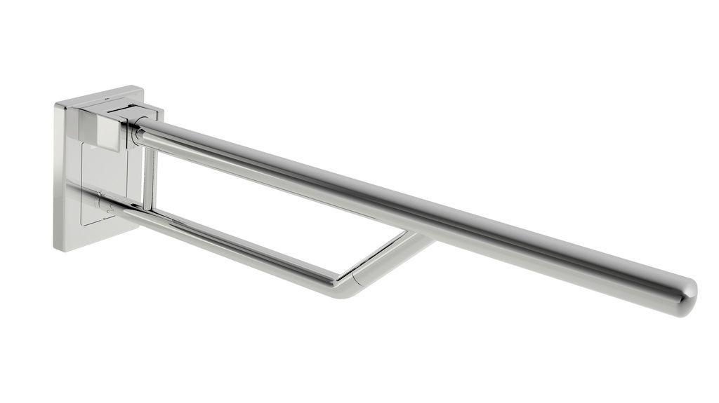Hewi WARM TOUCH Stützklappgriff Duo, Design B L:85cm mit Stahlkern chrom 950.50.13050