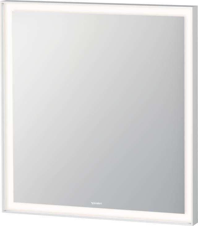 Duravit L-Cube Spiegel mit Beleuchtung B:65xH:70xT:6,7cm weiß matt gepulvert LC738000000