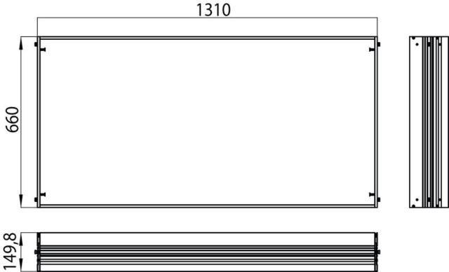 Emco asis Einbaurahmen 989700009, 1310x660 mm