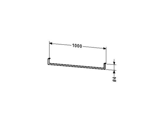 Duravit Handtuchhalter Universal 1000x84mm unter Konsole mit Schubkasten chrom UV998600000