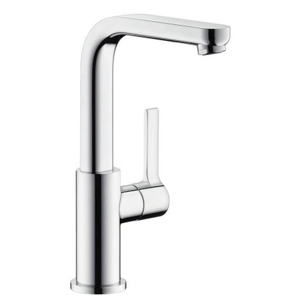 Hansgrohe Metris S Einhebel-Waschtischmischer mit Push-Open Ablaufgarnitur und Schwenkauslauf 120° chrom 31161000