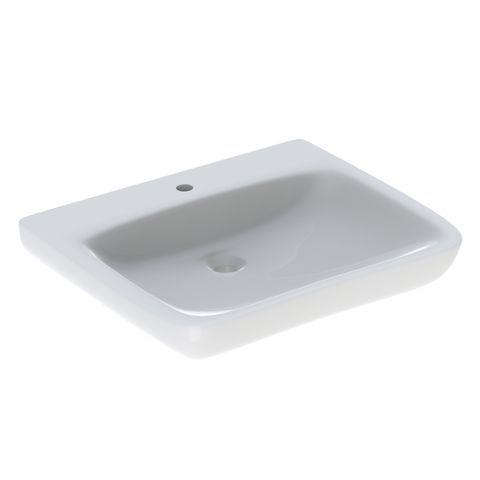 Geberit Keramag Renova Comfort Waschtisch Breite 65cm unterfahrbar mit Hahnloch ohne Überlauf weiß mit KeraTect 258567600