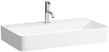 Laufen VAL Möbel-Waschtisch ohne Hahnloch mit Überlauf B:75xT:42cm weiß H8102850001091