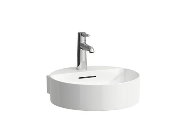 Laufen Handwaschbecken Val 425x400 1 Hahnloch mit Überlauf LCC weiss H8112814001041