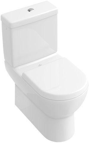 Villeroy & Boch Subway Tiefspül-Stand-WC für Aufsatzspülkasten L:67xB:37cm Weiß Alpin mit Ceramicplus 661010R1