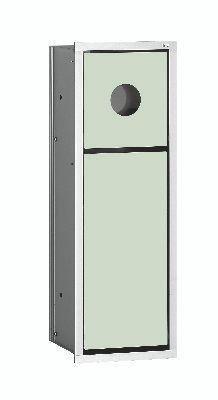 Emco asis Hygienebox, Abfallkorb Unterputz-Modul 973027830 chrom, weiß