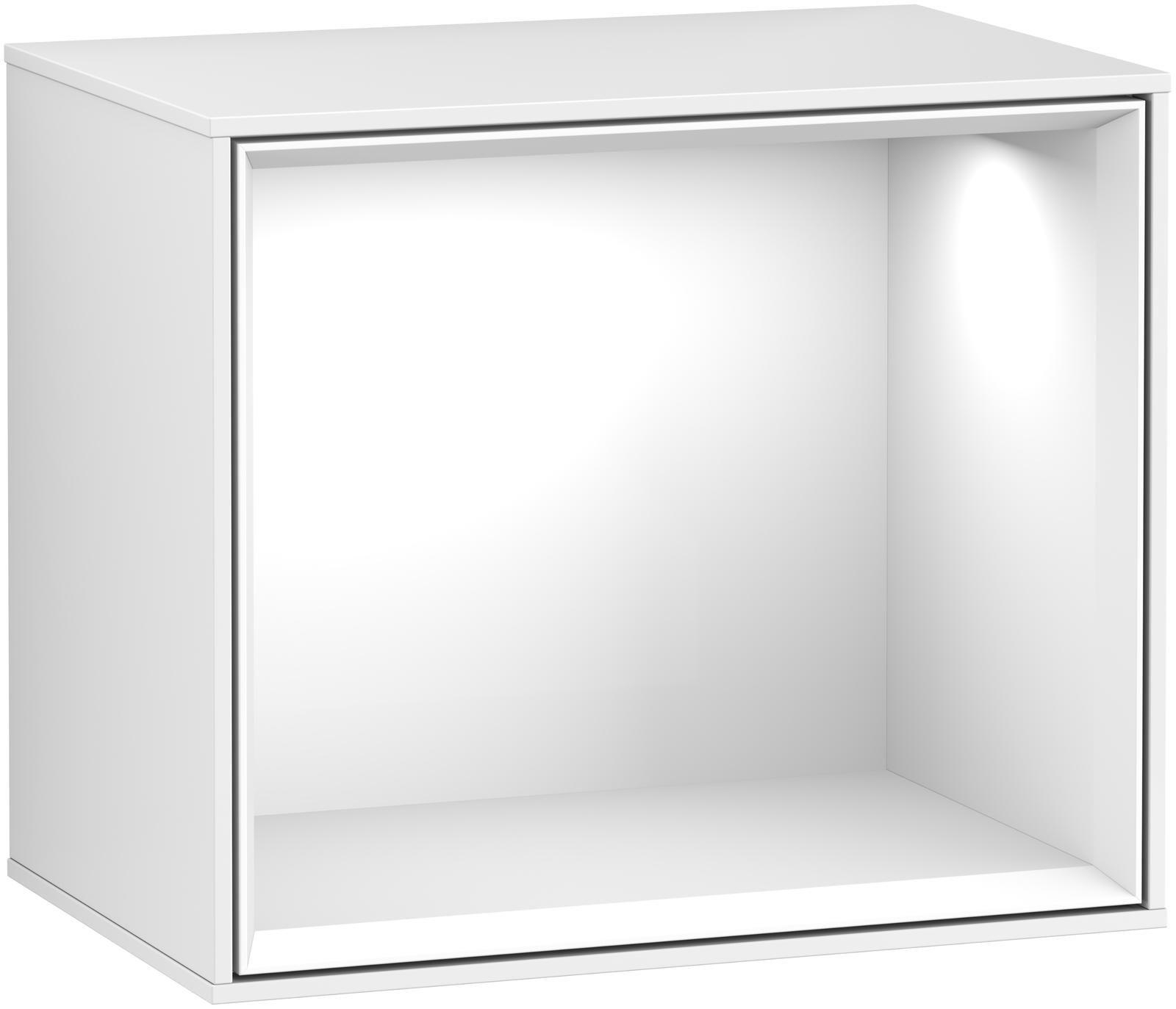 Villeroy & Boch Finion G58 Regalmodul LED-Beleuchtung B:41,8xH:35,6xT:27cm Front, Korpus: Glossy White Lack G580GFGF