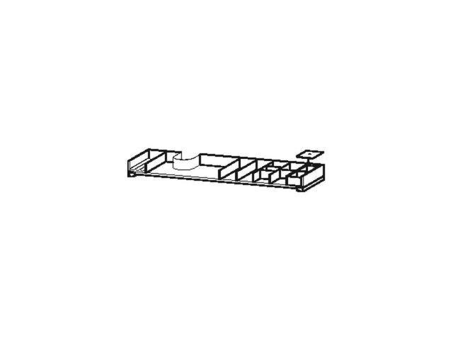 Duravit L-Cube Einrichtungssystem asymetrisch Universal Schubkasten 1220mm mit Siphonausschnitt nussb.massiv UV999707777