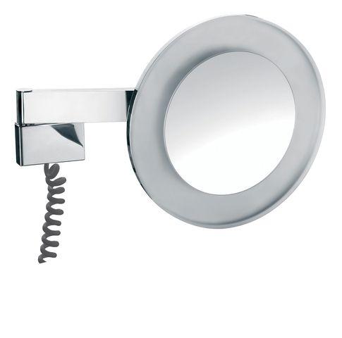 Emco LED Rasier- & Kosmetikspiegel 2-armig Vergrößerung 5-fach mit Farbwechsel mit Stecker rund chrom 109606009