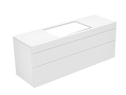 Keuco Edition 400 Waschtischunterbau 2 Frontauszüge 1400 x 546 x 450 mm cashmere/cashmere 31573450001