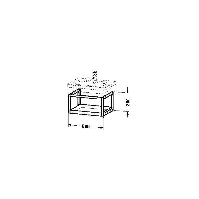 Duravit DuraStyle Möbel-Accessoire Ablage wandhängend B:59xH:30xT:44 cm graphit matt, nussbaum massiv DS987104977
