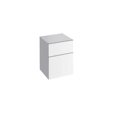 Geberit Keramag iCon Seitenschrank mit 1 Auszug und 1 Schublade B:450xT:477xH:600mm alpin hochglanz 840045000