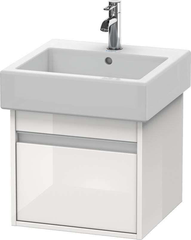Duravit Ketho Waschtischunterschrank wandhängend für 045450 B:45xH:41xT:44cm 1 Auszug weiß hochglanz KT668502222