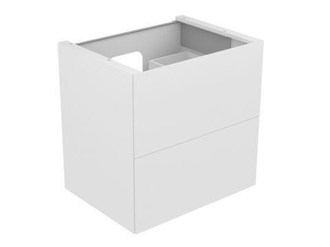 Keuco Edition 11 Waschtischunterbau 2 Frontauszüge mit Beleuchtung eiche platin 31342440100