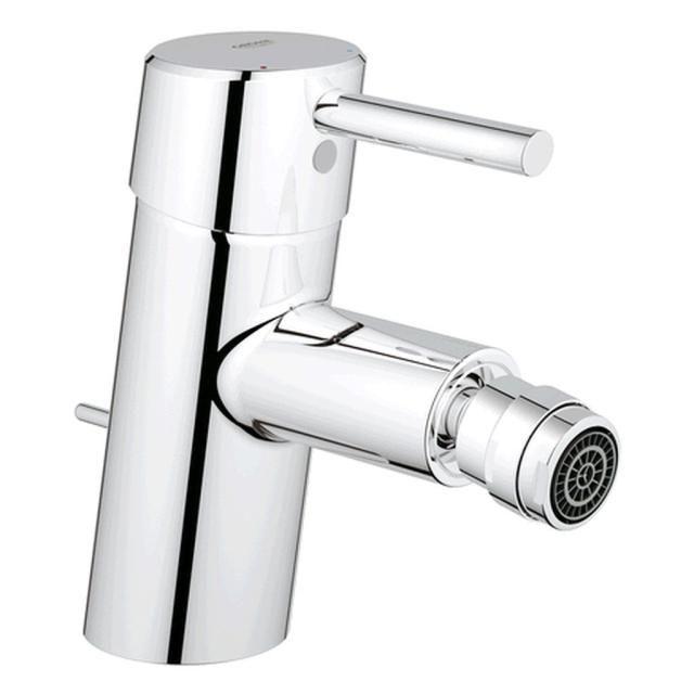 Grohe Concetto Einhand-Bidetbatterie Zugstangen-Ablaufgarnitur chrom 32208001