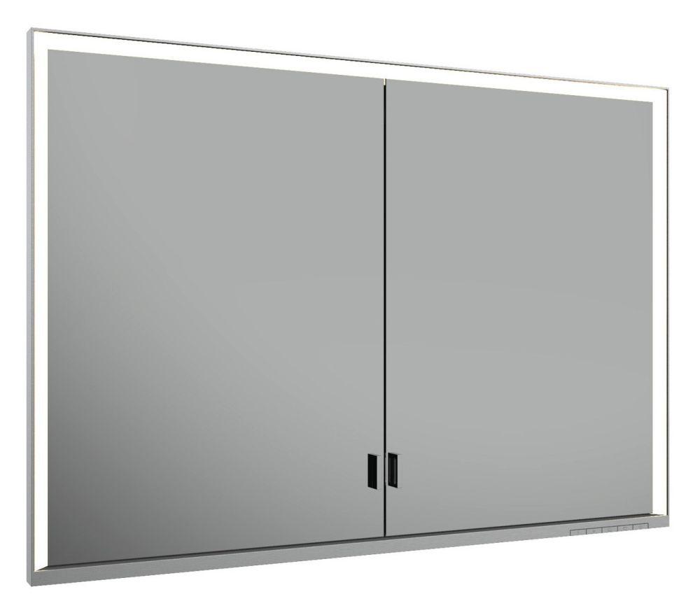 Keuco Lumos Spiegelschrank 14318 ohne Ablagefach, Einbau, DALI, H:73,5,B:105,T:16,5cm, silber eloxiert, 14318172303