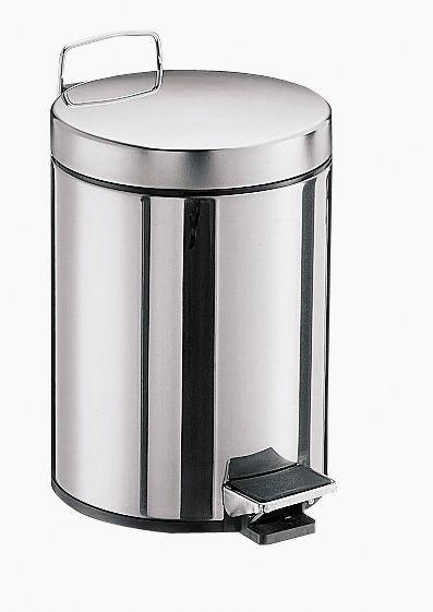 Emco System 2 Abfallbehälter 355300000, 5 l, mit Deckel, edelstahl-optik