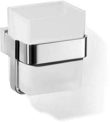 Giese Gifix Tono Glashalter mit Becher Wandmodell Kristallglas satiniert verchromt 39010-02