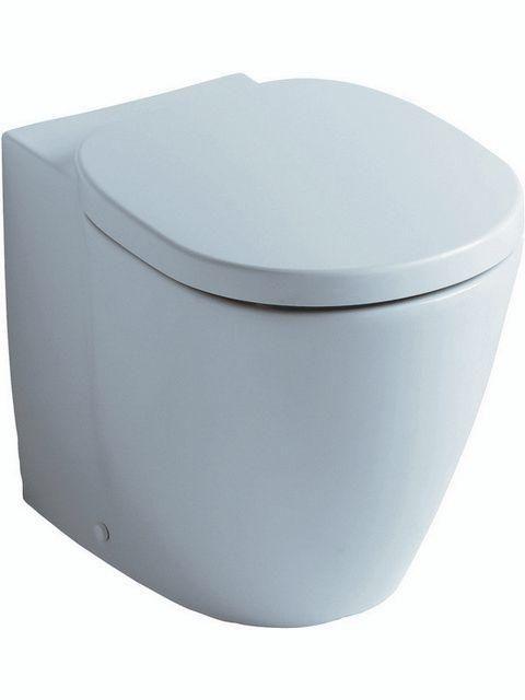Ideal Standard CONNECT Tiefspül-Stand-WC Abgang waagerecht L:54,5xB:36xH:40cm weiß mit IdealPlus E8231MA