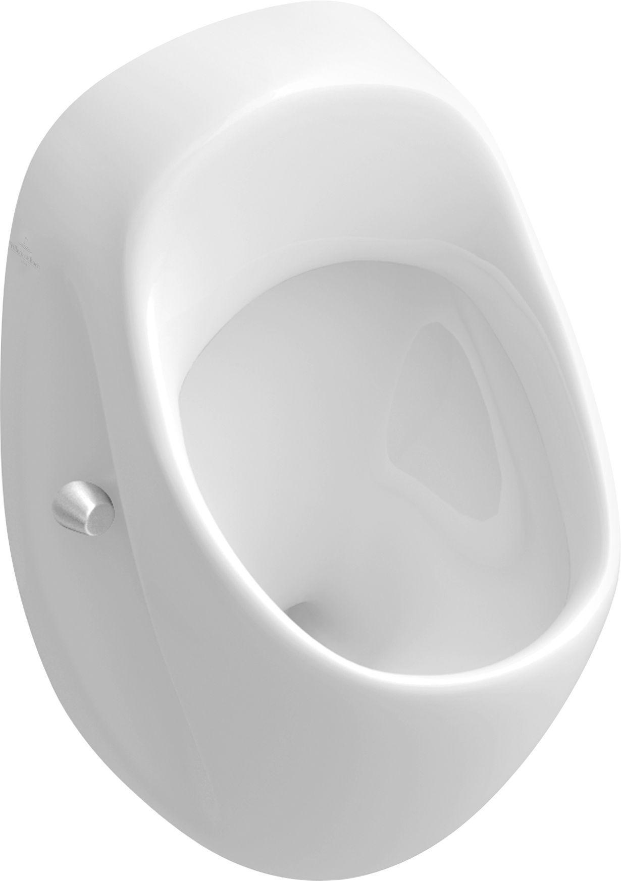 Villeroy & Boch O.novo Urinal ohne Deckel Zulauf verdeckt weiß mit ceramicplus 750700R1