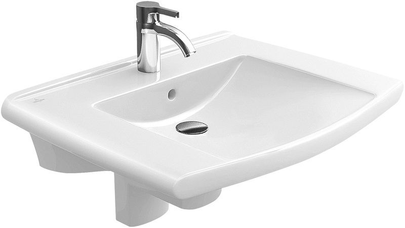 Villeroy & Boch Lifetime Waschtisch B:70xT:53,5cm 1 Hahnloch mit Überlauf weiß 51747001