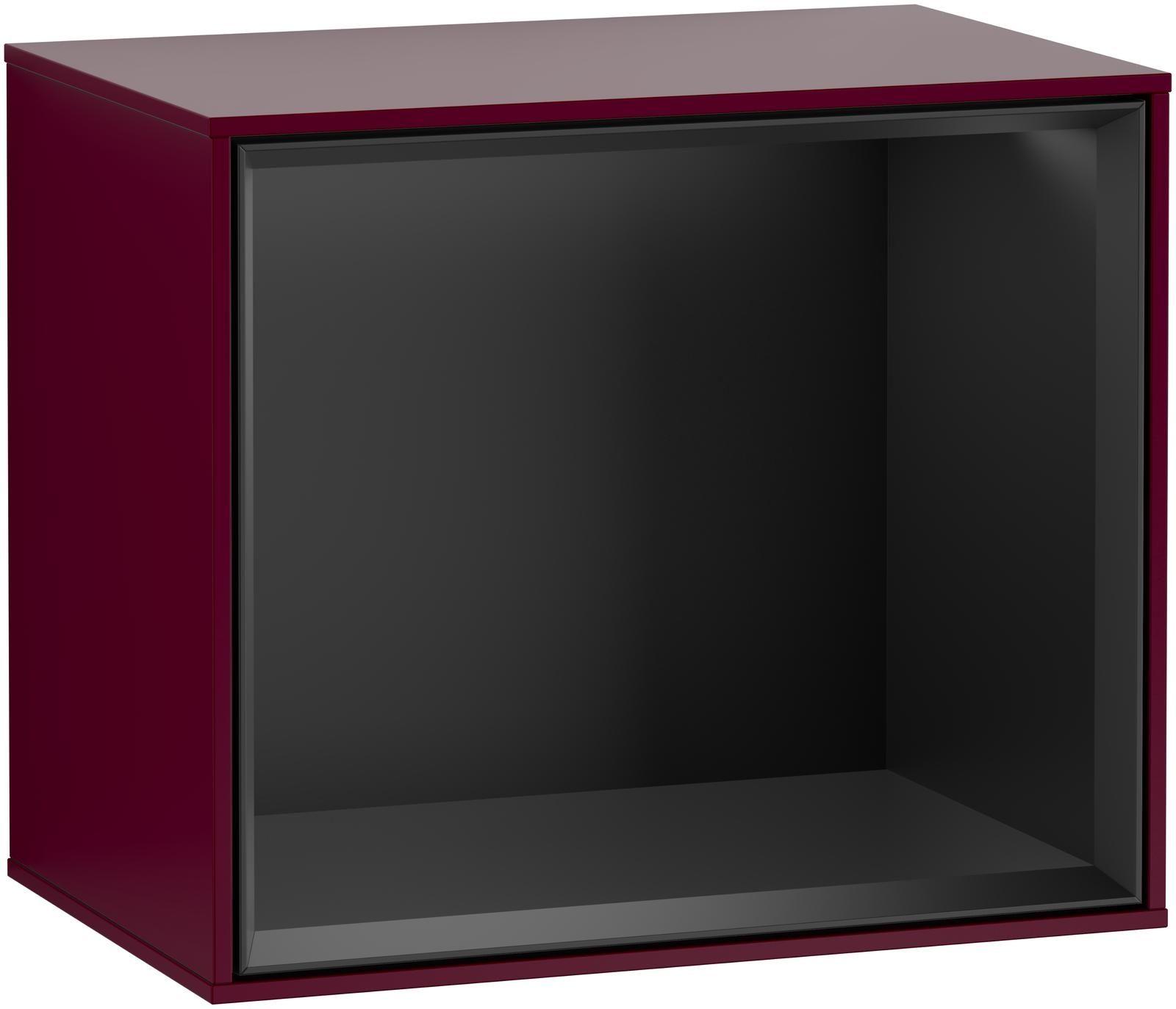 Villeroy & Boch Finion F59 Regalmodul LED-Beleuchtung B:41,8xH:35,6xT:27cm Front, Korpus: Peony, Regal: Black Matt Lacquer F590PDHB