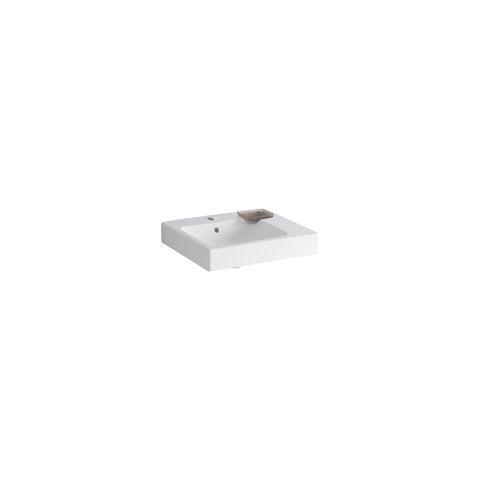 Geberit Keramag iCon Waschtisch B:50xT:48,5cm 1 Hahnloch mit Überlauf weiß mit KeraTect 124050600
