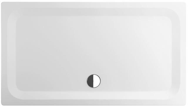 Bette Rechteck-Duschwanne superflach L:160xB:90xT:3,5cm weiß mit BetteGlasur Plus 5961-000PLUS