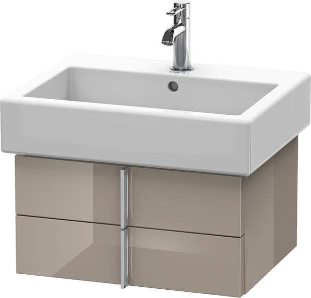 Duravit Vero Waschtischunterschrank wandhängend für 045460 B:55xH:29,8xT:43,1cm 2 Schubkästen cappuccino hochglanz VE620408686