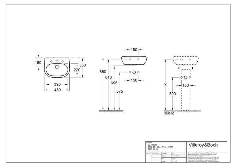 Villeroy & Boch O.Novo Ablaufhaube weiß mit CeramicPlus 526700R1